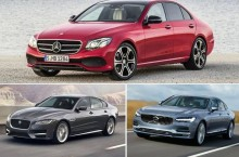 Mercedes-Benz Clasa E vs Jaguar XF și Volvo S90