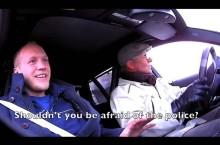 Petter Solberg se deghizează în bătrân și sperie mecanicii cu drifturi