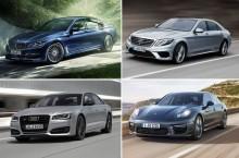 Comparativ foto și tehnic: Cele mai rapide limuzine V8