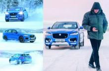 Jose Mourinho a făcut drift-uri cu Jaguar F-Pace pe un lac înghețat