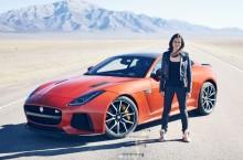 VIDEO: Jaguar F-Type SVR a fost dus la limită de Michelle Rodriguez, vedeta Fast and Furious