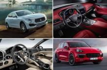 Comparativ foto și tehnic: Maserati Levante vs Porsche Cayenne