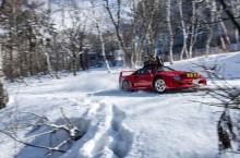 VIDEO: Red Bull și Takeshi Kimura ne arată cum știe să se distreze un Ferrari F40 în zăpadă