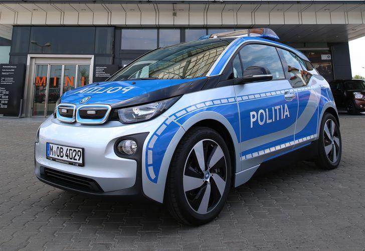 BMW i3 devine prima mașină electrică utilizată de Poliția Română