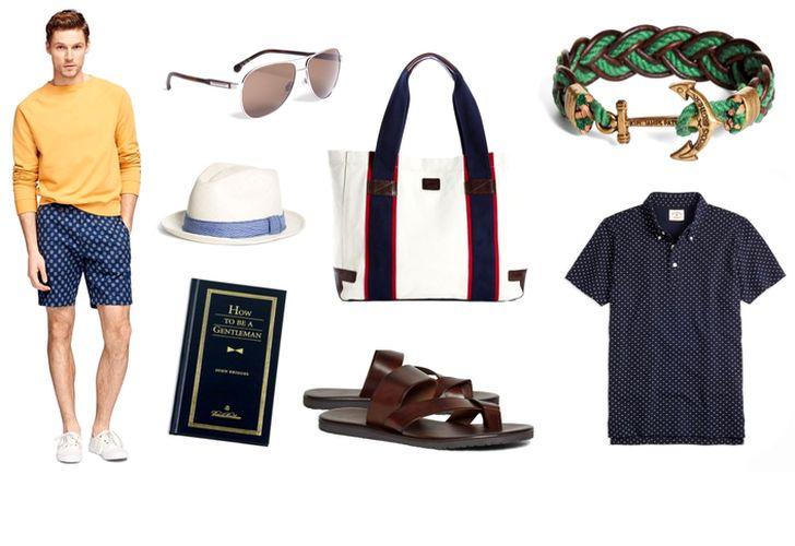 Haine și accesorii Brooks Brothers pentru o ținută elegantă potivită mersului la plajă