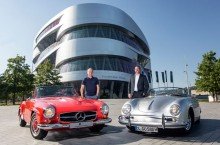 Muzeele Mercedes-Benz și Porsche fac schimb de mașini și oferă reduceri pentru vizitarea ambelor galerii