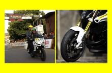 "Anvelopa Dunlop RoadSmart III va echipa motocicleta de suport din cursele de ciclism organizate de revista ""Ciclismo a Fondo"""