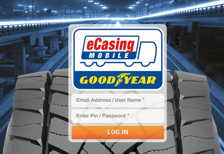 OPEN Goodyear eCasing Mobile App Login iPad
