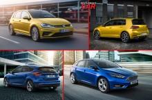Noul VW Golf vs Ford Focus: ce compactă alegi?