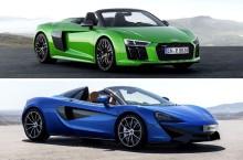 Ispitele lunii iunie: Audi R8 Spyder V10 plus versus McLaren 570S Spider