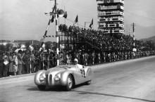 BMW 328 Mille Miglia Roadster at the 1st Italian Mille Miglia Grand Prix in Brescia, April 28, 1940