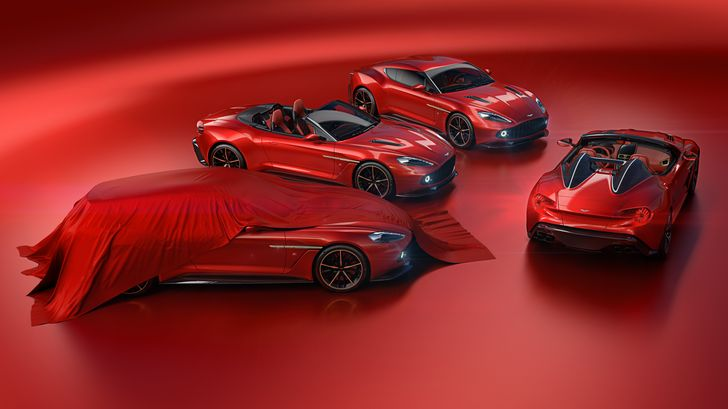 Cvartetul Aston Martin Vanquish Zagato