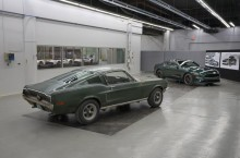 Original-1968-Mustang from movie Bullitt with new 2019 Mustang Bullitt