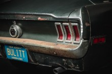 Original 1968 Mustang from movie Bullitt - rear lamps