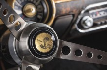 Original 1968 Mustang from movie Bullitt - replica Shelby steering wheel made by original supplier to replace the wheel Steve McQueen kept after the movie