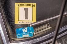 Original 1968 Mustang from movie Bullitt - Warner Bros window sticker