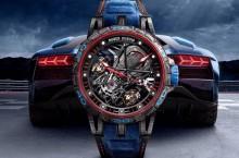 Roger Dubuis Excalibur Aventador S Blue și Pink Gold dedicate supersportivei Lamborghini