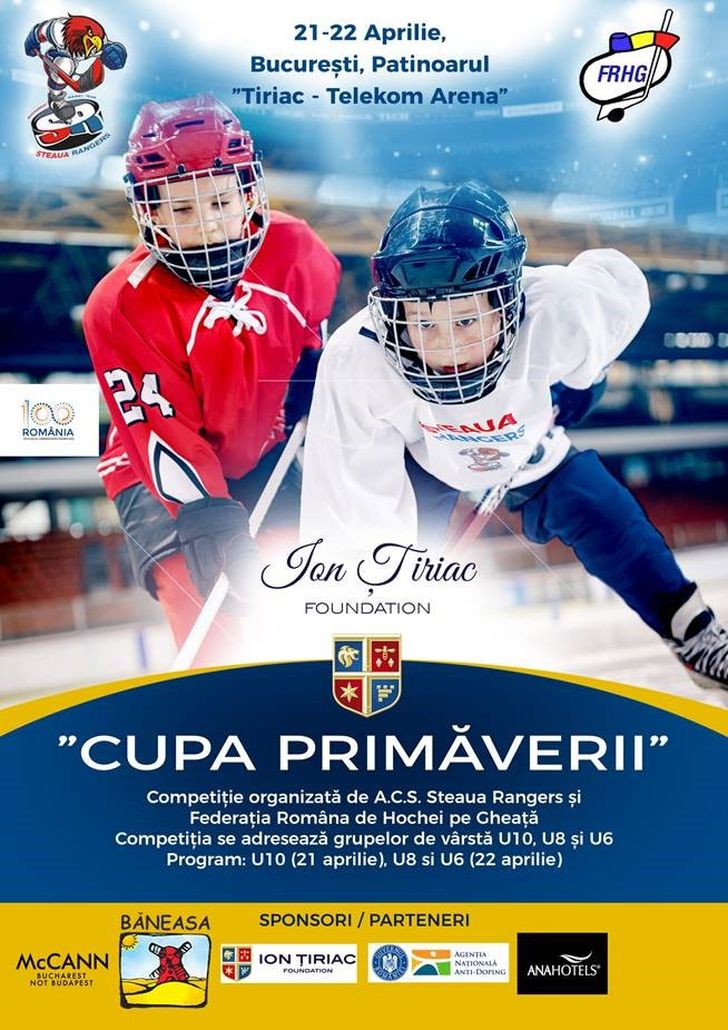Afis Cupa Primaverii_Patinoarul Tiriac_Telekom Arena