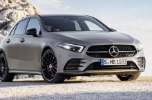 Mercedes-Benz A-Klasse, Edition 1. Exterieur: designo mountaingrau magno   Mercedes-Benz A-Class, Edition1. Exterior: designo mountain grey magno