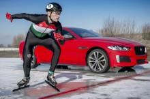 VIDEO: Jaguar XE 300 SPORT debutează învingând un patinator olimpic