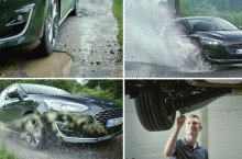 VIDEO: Suspensiile noului Ford Focus reduc șocul resimțit de roți la trecerea prin gropi