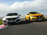 Test Drive: Renault Megane RS vs Honda Civic Type-R – Orgolii măsurate