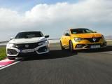 Test Drive: Renault Megane RS vs Honda Civic Type-R – Orgolii măsurate