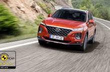 Noul Hyundai Santa Fe a obținut calificativul maxim de cinci stele la testele Euro NCAP