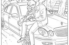 Soluții de carantină: Mercedes-Benz propune schițe de colorat pentru copii